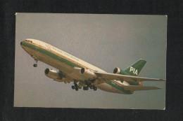 Pakistan Picture Postcard PIA International Airline Airplane View Card - Pakistan