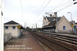 Gare De Maromme , Seine-Maritime , Vue En Direction Du Havre  -  Une Photo Reproduit Carte Postale  10x15 Cm. - Stations Without Trains