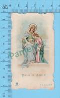 Suisse-654 ( Sainte Anne Enseignant à Marie ) Dentelé Religion Images  Pieuses, Holy Card Santini  Recto/verso - Images Religieuses