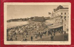 France  - Dépt 64 -  BIARRITZ - CPA - La  Grande Plage Et Le Casino Municipal - 1926 - Biarritz