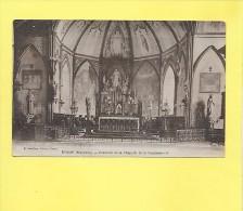 CPA EVRON - Mayenne (53) - Intérieur De La Chapelle De La Communauté - Autel - 1943 - Eglises Et Cathédrales