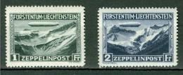 Liechtenstein    PA 7 Et 8  *    TB   Zeppelin - Aéreo