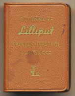 Dictionnaire LILLIPUT  Fran�ais Espagnol  Larousse 1961 dimensions ferm�s 3,6 x 5 x 2 cm