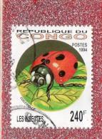REP.  DU  CONGO... -- INSECTE  COCCINELLE  --  CACHET  DOUBLE  -- **  240  F. **  --  POSTE  1994..... - Congo - Brazzaville