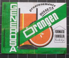 """Ricevuta Pasto Anno 1978 Su Foglietto Pubblicitario """" ORANGEN Generosamente Disseta """" - Fatture"""