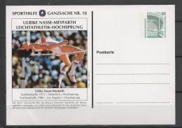 ALLEMAGNE  Carte  1 Er Jour   Ulrike Nasse Meyfarth  JO 1972 1984 Saut En Hauteur - Atletismo