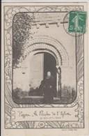 D41- PEZOU - LE PORCHE DE L'EGLISE - (DECOR MUGUET E. ROCHER) - France