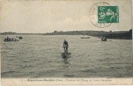 Etang Du Puits Coté Argent Sur Sauldre 1 Traversée De L' Etang Du Puits A Bicyclette Par Lechat Hydrocycle 1909 - Argent-sur-Sauldre