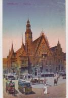 Deutschland Germany Allemagne Germania BRESLAU Rathaus Straßenbahn Tram Kutschen 1920 - Schlesien