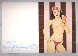 """Grande Carte 2 Volets 14,5x21 Cm Ouvert - Nugeron - CH124. """"Fraise Pistache"""" Par Michel Plaisir - 1976 - Pin-Ups"""