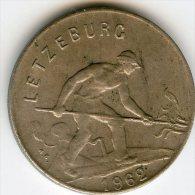 Luxembourg 1 Franc 1962 KM 46.2 - Lussemburgo