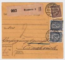 DR, 1922, Dienst Nr. 33b, Mi. 68.- , Geprüft! , #2958 - Briefe U. Dokumente
