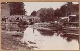 Suffolk   BRANDON Bridge canal barges  RP  sf492