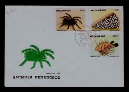 Araignées Venimeuses Poisonous Spiders Venomous Faune Animals Mozambique Fdc Cover Fishes Coneshells Animaux Sp3407 - Araignées