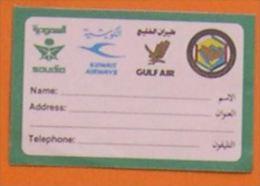 SAUDIA - KUWAIT AIRWAYS - GULF AIR - ETIQUETTE A BAGAGE AUTOCOLLANT COMPAGNIE AERIENNE - Étiquettes à Bagages