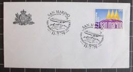 """San Marino - 1979 - Annulli Speciali """" XV Anniversario Primo Volo RIMINI-LONDRA   """" 11.7.79 - Errors, Freaks & Oddities (EFO)"""