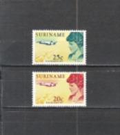Suriname 1967 Geschichte Luftfahrt Persönlichkeiten Amelia Earhart Flugzeuge Aeroplanes Pioniere, Mi. 521-2 ** - Suriname