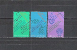 Suriname 1971 Kommunikation Fernmeldewesen Weltfernmeldetag Morsen Telefon Mondfähre Teleskop, Mi. 601-3 ** - Suriname