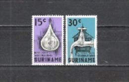 Suriname 1972 Wasserversorgung Water Wasserwerke Versorgung Water Umwelt Tropfen Wasserhahn, Mi. 616-7 ** - Suriname