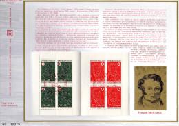 Feuillet Tirage Limité CEF 219 B Croix-rouge Desgenettes Broussais - Blocs & Feuillets