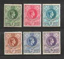 SWAZILAND 1938 Hinged Stamp(s) Definitives 27=37 # 6598 (6 Values Only) - Swaziland (1968-...)