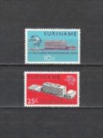 Suriname 1970 Organisationen Weltpostverein Postgeschichte UPU Architektur Bauwerke Gebäude Bern, Mi. 577-8 ** - Suriname