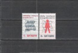 Suriname 1971 Staatswesen Verwaltung Volkszählung Standesamt Karten Weltbevölkerung, Mi. 605-6 ** - Suriname