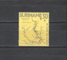 Suriname 1971 Geschichte Pers�nlichkeiten Forscher Entdecker Willem Mogge Landkarten Karten Vermessung, Mi. 607 **
