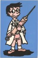 E3426 Cartolina A Rilievo - Materiale Speciale - Stoffa - Humor - Piccolo Dottore - Aliprandi Editore / Non Viaggiata - Cartoline
