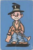 E3427 Cartolina A Rilievo - Materiale Speciale - Stoffa - Humor - Piccolo Clown - Aliprandi Editore / Non Viaggiata - Cartoline