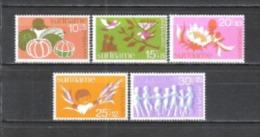 Suriname 1974 Organisationen Wohlfahrt Kinderhilfe Kinderzeichnungen V�gel Blumen Getreide Spiele, Mi. 682-6 **