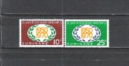 Suriname 1970 Bildungswesen Ausbildung Erziehung Schulen Schulbildung Lorbeerkranz Gesellschaft Unterricht, Mi. 575-6 ** - Suriname