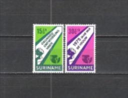 Suriname 1975 Organisationen Vereinte Nationen UNO ONU Gleichberechtigung Bildung Frieden Gesellschaft, Mi. 693-4 **