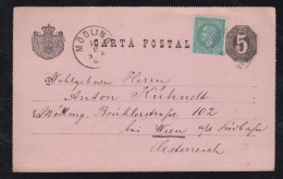 Rumänien Romania 1885 Uprated Stationery To MOEDLING Austria - Briefe U. Dokumente
