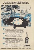 # CHAMPION SPARK PLUG 1950s Cote d'Azur France Italy Advert Pub Reklame Buj�as Candele Zundkerze Bougie