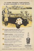 # CHAMPION SPARK PLUG 1950s Africa Safari Italy Advert Pub Reklame Buj�as Candele Zundkerze Bougie Afrika