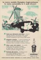 # CHAMPION SPARK PLUG 1950s Nederland Windmill Italy Advert Pub Reklame Buj�as Candele Zundkerze Bougie Afrika Holland