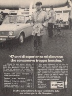 # CHAMPION SPARK PLUG 1960s Italy Advert Pub Reklame Bujìas Candele Zundkerze Bougie - Cars