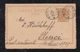 Rumänien Romania 1893 Stationery Letter Card BUCAREST To POLESCI - 1881-1918: Charles I