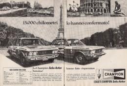 # CHAMPION SPARK PLUG 1960s FIAT 130 Italy Advert Pub Reklame Buj�as Candele Zundkerze Bougie