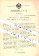 Original Patent - Robert Fierz , Zürich - Riesbach , 1892 , Jaquard - Webstuhl Mit 2 Jaquardmaschinen , Weber , Weben !! - Documents Historiques