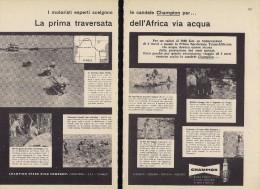 # CHAMPION SPARK PLUG 1960s Africa Safari Raid Expedition Italy Advert Pub Reklame Buj�as Candele Zundkerze Bougie