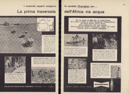 # CHAMPION SPARK PLUG 1960s Africa Safari Raid Expedition Italy Advert Pub Reklame Bujìas Candele Zundkerze Bougie - Cars