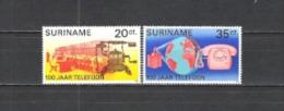 Suriname 1976 Kommunikation Fernmeldewesen Telefon Phone Telegraphen Satelliten Graham Bell, Mi. 730-1 **