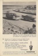 # CHAMPION SPARK PLUG 1960s Daytona Beach Florida USA Advert Pub Reklame Buj�as Candele Zundkerze Bougie
