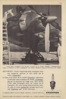 # CHAMPION SPARK PLUG 1960s Airplane DC7 New York  to Paris Advert Pub Reklame Buj�as Candele Zundkerze Bougie