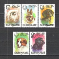 Suriname 1976 Organisationen Wohlfahrt Kinderhilfe Tiere Animals Haustiere Pets Hunde Dogs Pekinese Dackel, Mi. 738-2 **