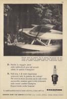 # CHAMPION SPARK PLUG 1950s Cessna Seaplane Italy Advert Pub Reklame Bujìas Candele Zundkerze Bougie - Cars