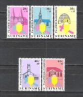 Suriname 1979 Religion Christentum Ostern Easter Kirchen Churches Architektur Bauwerke Gebäude, Mi. 864-8 ** - Suriname