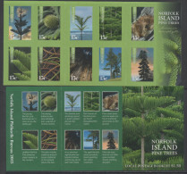 NORFOLK  ISLAND, 2015, MNH, TREES, PINE TREES, BOOKLET - Bomen